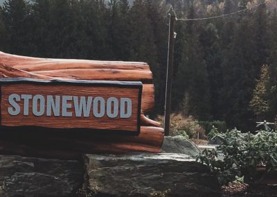 sandblasted sign chilliwack for stonewood